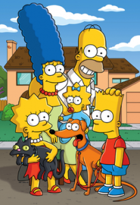 Photo famille des Simpson